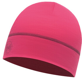 Buff Merino Wool Hat Solid Wild Pink